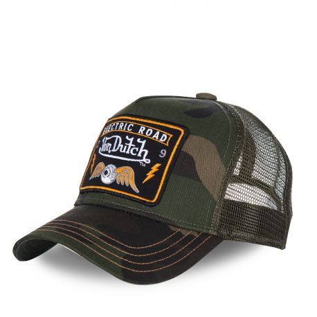 Casquette homme Von Dutch Square Flying Eye Camouflage