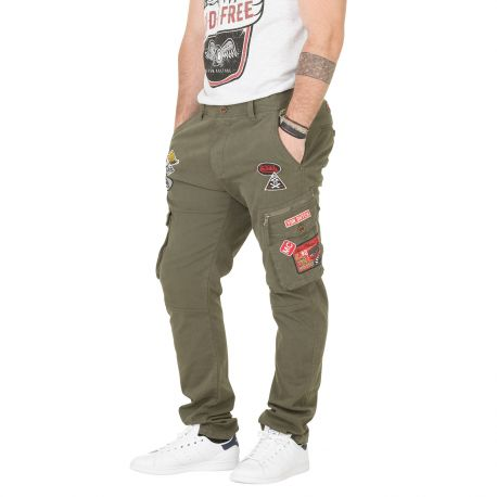 Pantalon Toile Homme VONDUTCH Run Kaki