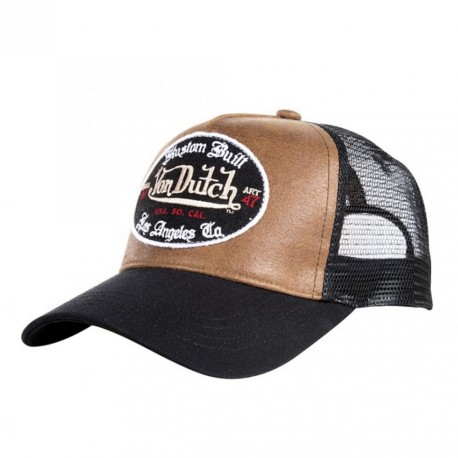 Casquette baseball homme Von Dutch Marron&Noir.