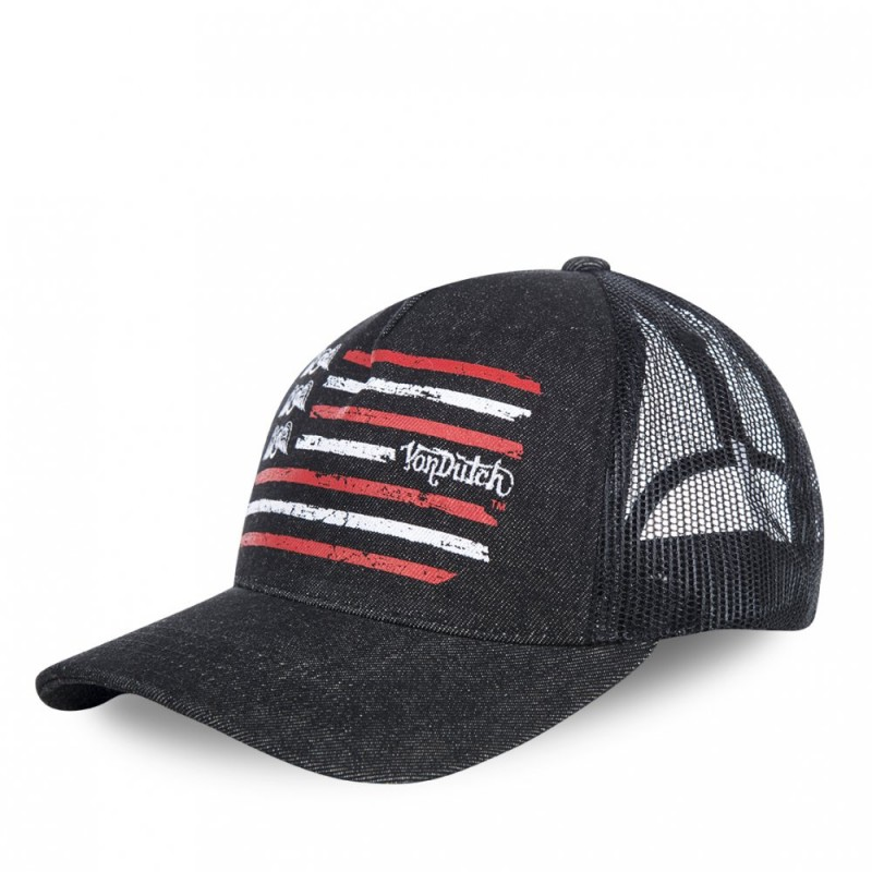 Casquette baseball filet Von Dutch Flag Gris Foncé