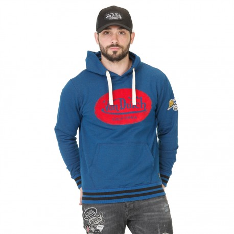 Sweat à Capuche Homme Von Dutch Aaron Bleu