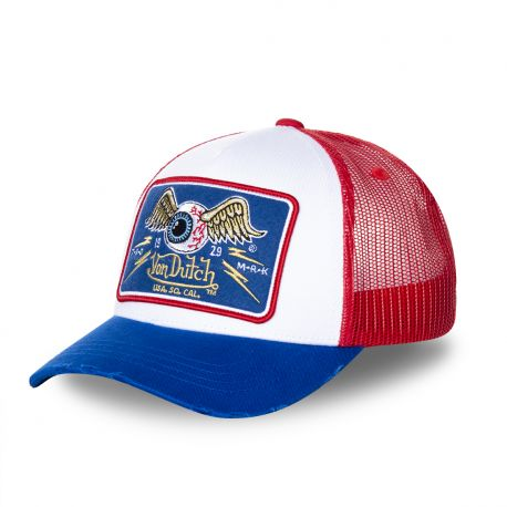 Casquette Trucker Homme Von Dutch Flying Eye Tricolore