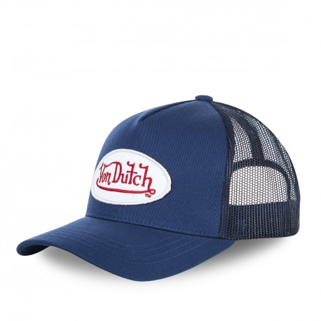 Men's Von Dutch BM mesh baseball cap in navy blue