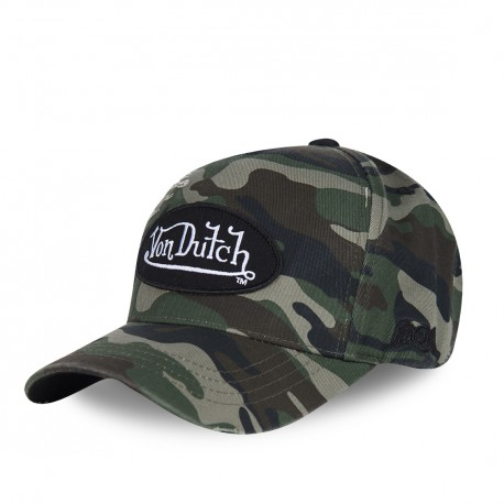 Von Dutch men's used camouflage baseball cap