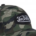 Casquette baseball homme Von Dutch Used Camouflage zoom avant