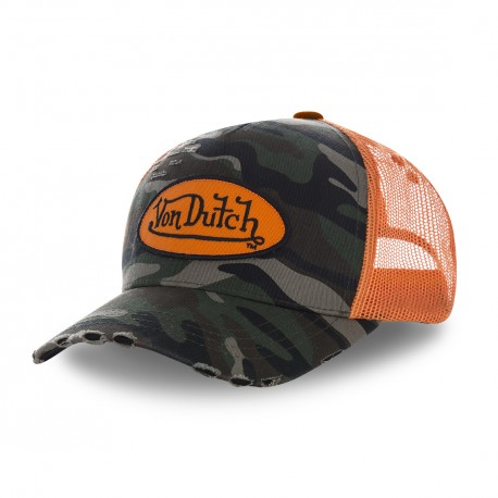 Casquette baseball Camouflage filet Orange