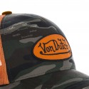 Casquette Baseball Homme Von Dutch Camouflage Filet Orange
