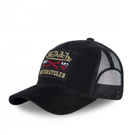 Casquette baseball homme filet Mark Noir