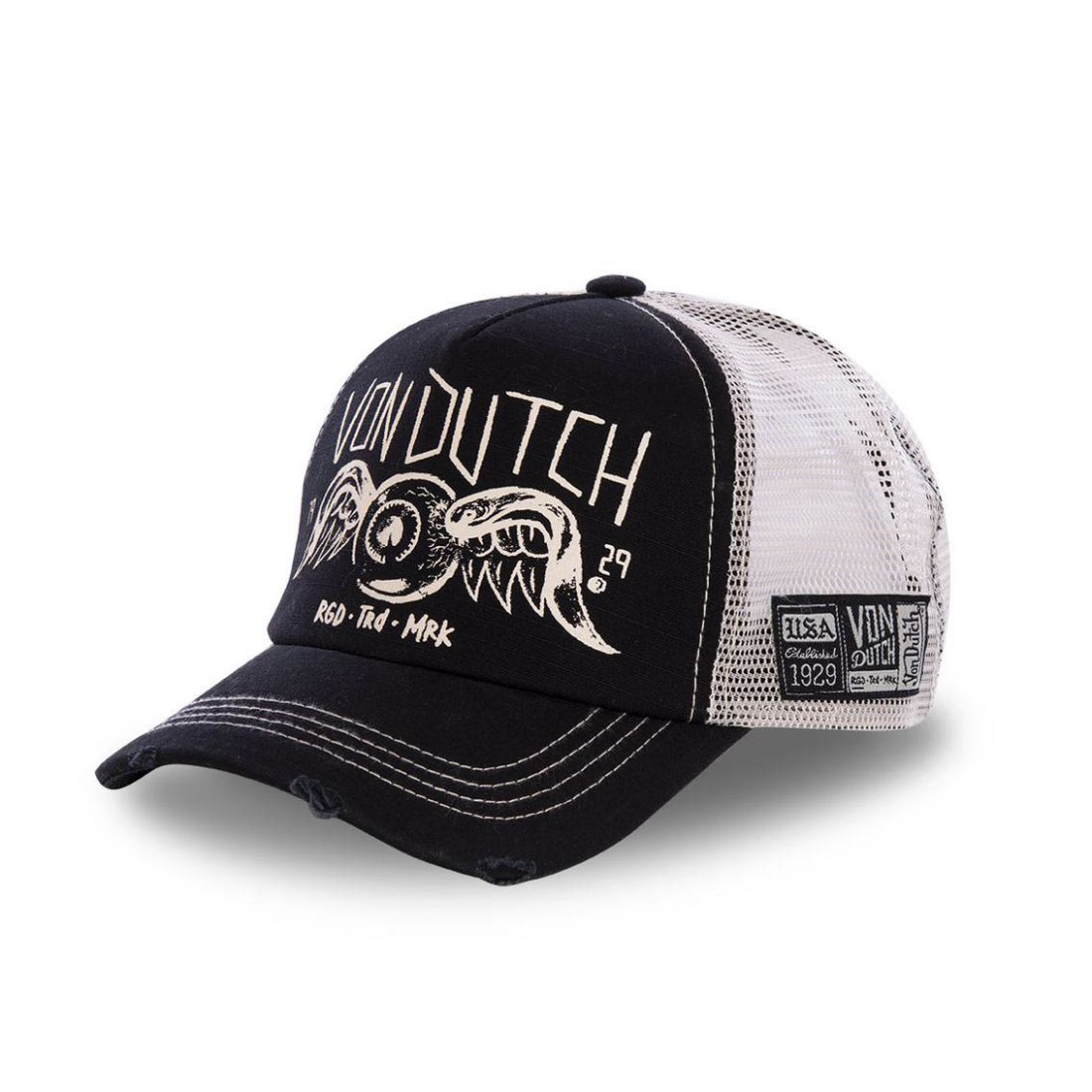 Casquette Trucker homme filet Von Dutch Crew Noir