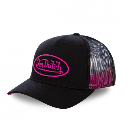 Casquette baseball Von Dutch Neon Rose