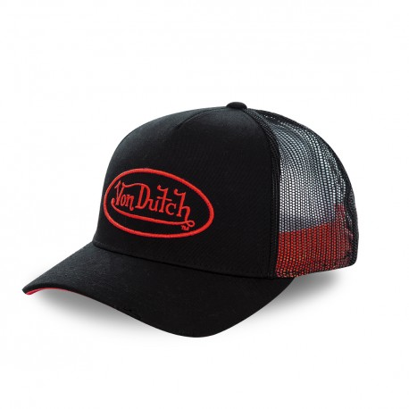 Casquette baseball Von Dutch Neon Rouge