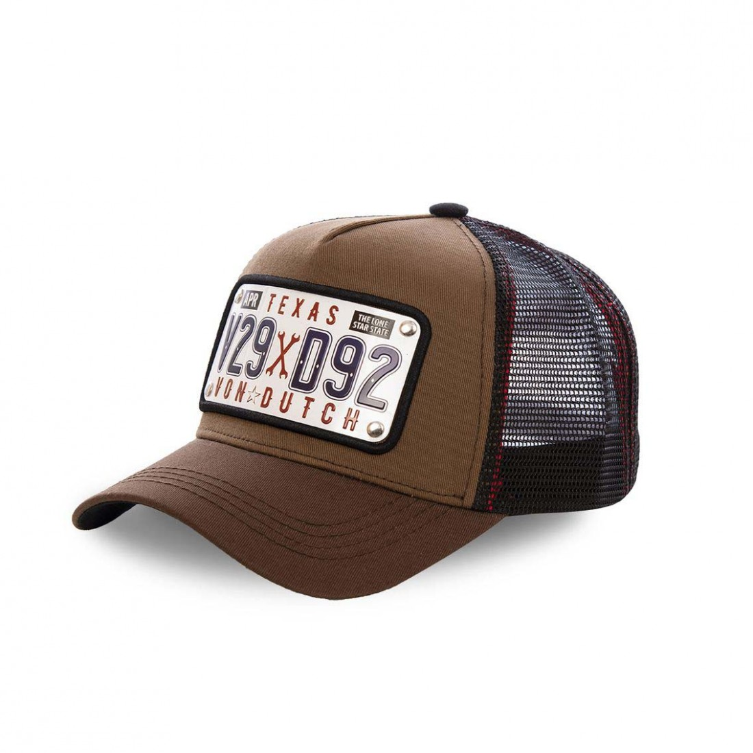 Casquette baseball Von Dutch Plate Texas Marron