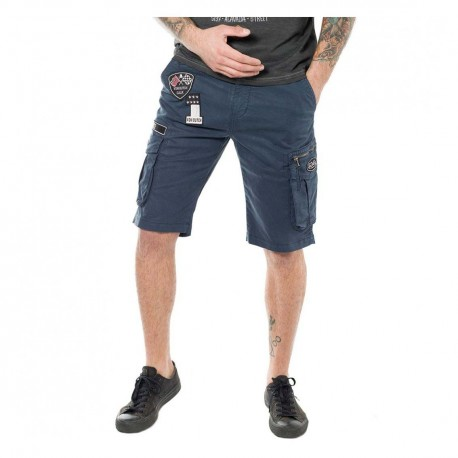 Von Dutch men's navy blue Texas '19 bermudas