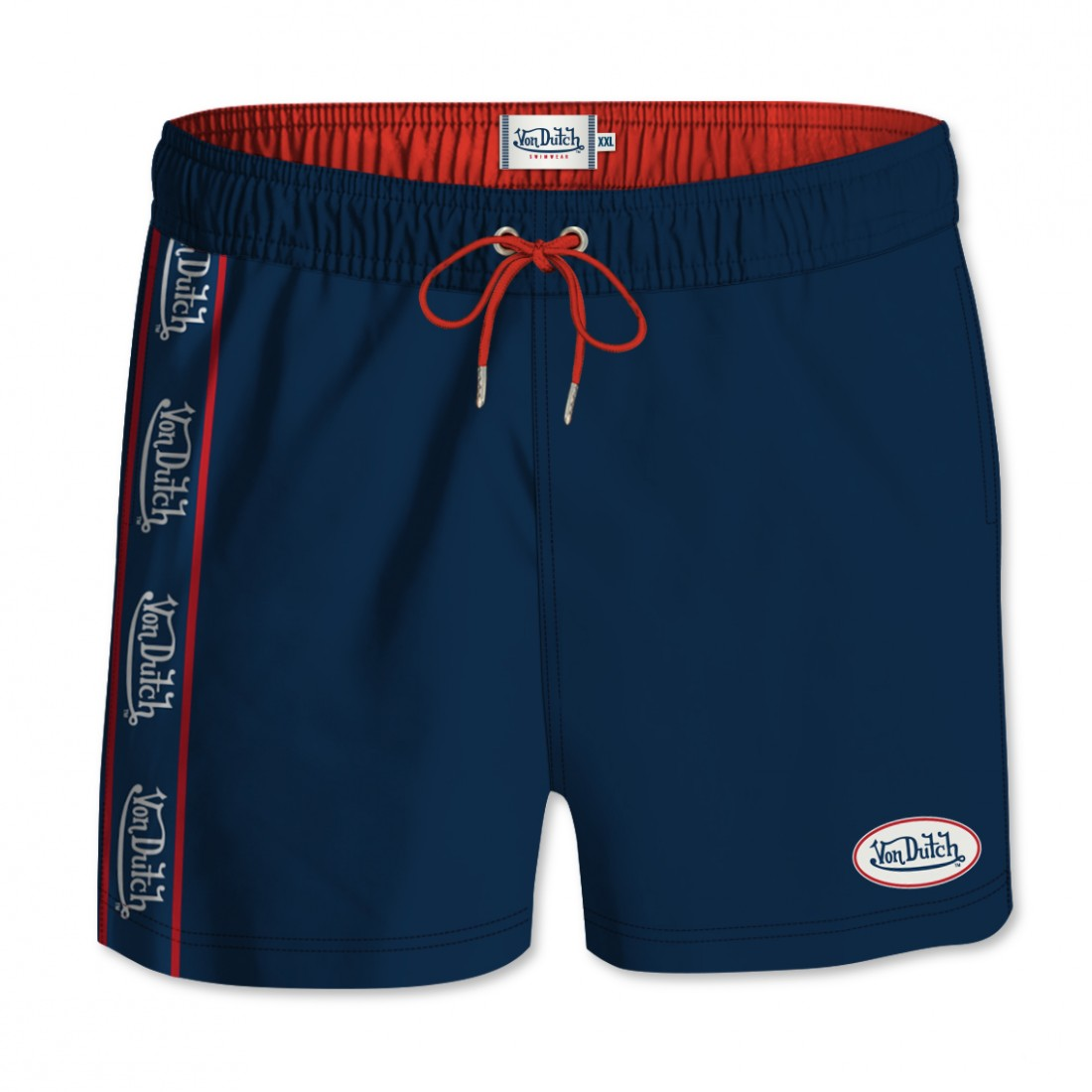 Von Dutch Men's Navy Blue Band's Board Short