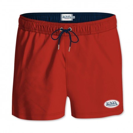 Boardshort homme Von Dutch Pat's Rouge