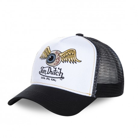 White Von Dutch Art trucker cap