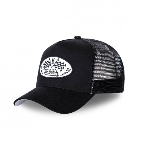 Von Dutch trucker's cap in tartan black