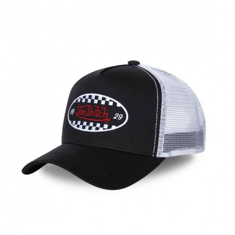 Casquette trucker Von Dutch Finish Noir