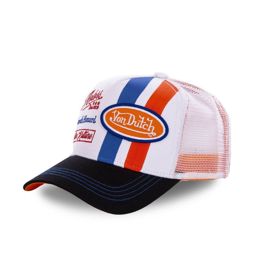 Casquette trucker Von Dutch McQueen Orange