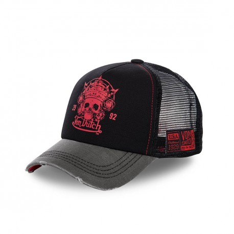 Casquette trucker Von Dutch Road Skull Noir