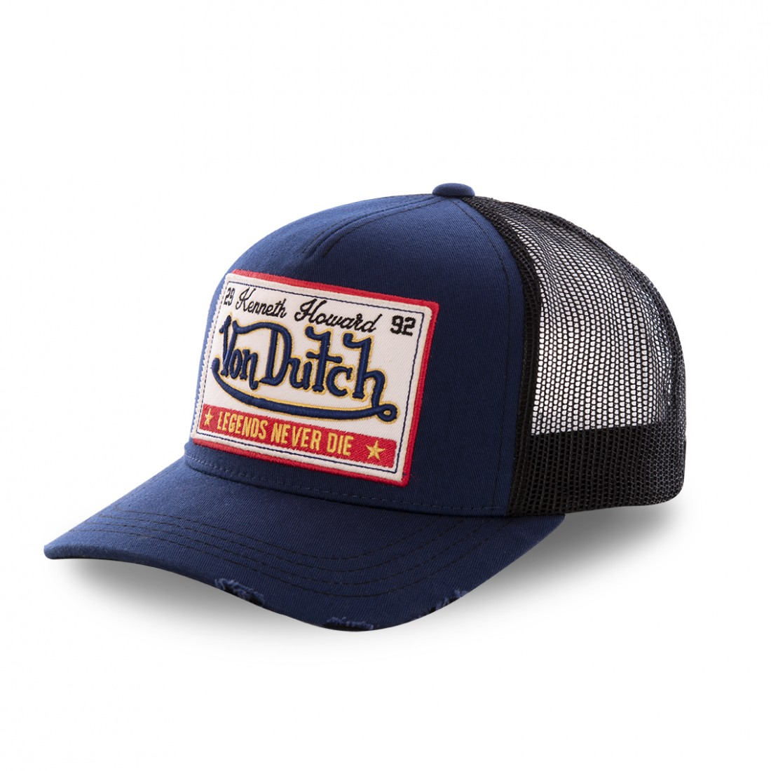Casquette baseball filet Von Dutch Ginger Bleu