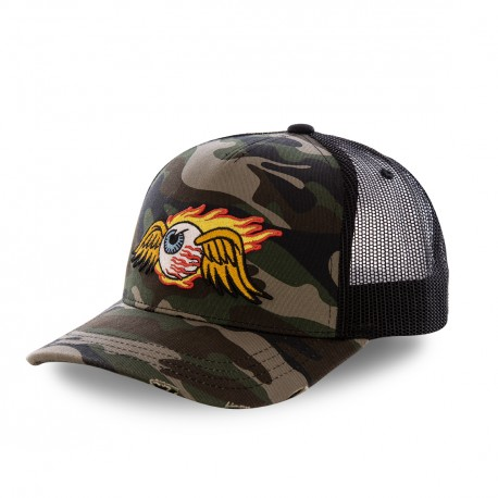 Von Dutch baseball Camouflage Fire cap with mesh