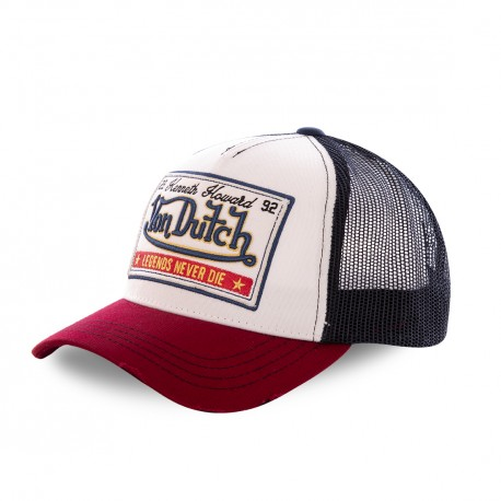 Casquette baseball filet Von Dutch Legends Blanc