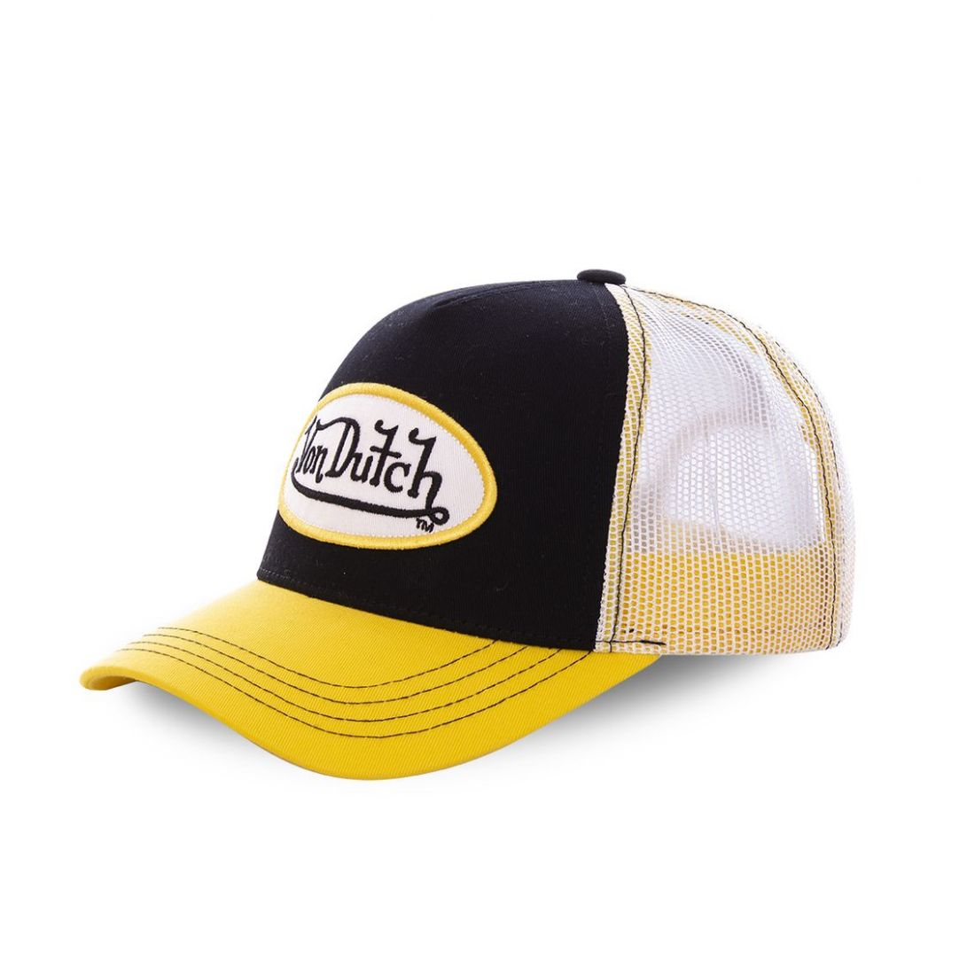 Casquette baseball Von Dutch Colors Jaune et Noir