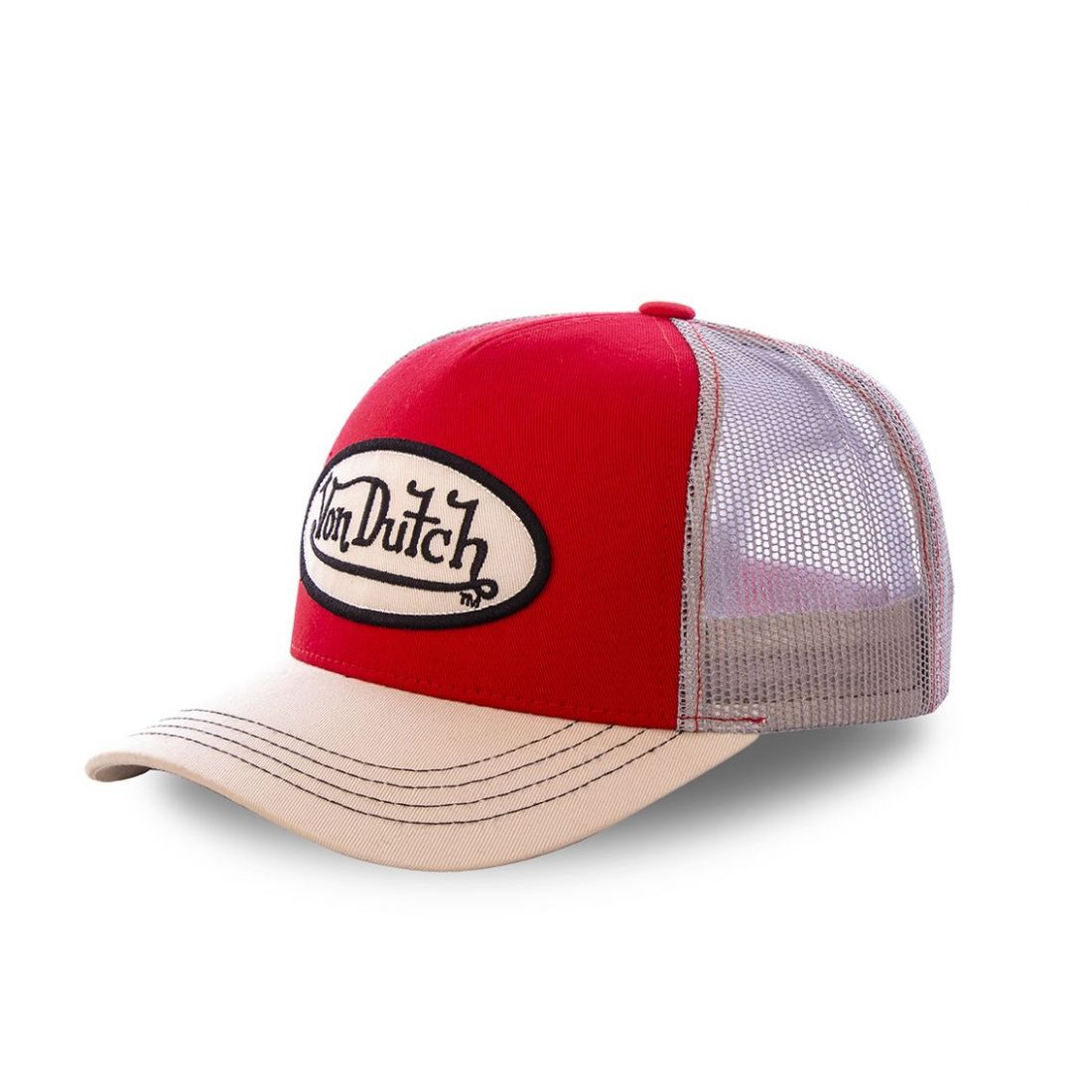 Casquette baseball Von Dutch Colors Rouge et Blanc