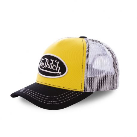 Casquette baseball Von Dutch Colors Tricolore Gris, Jaune, Blanc