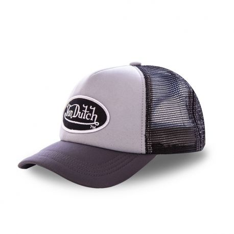 Casquette trucker Von Dutch Fao-M Gris chiné