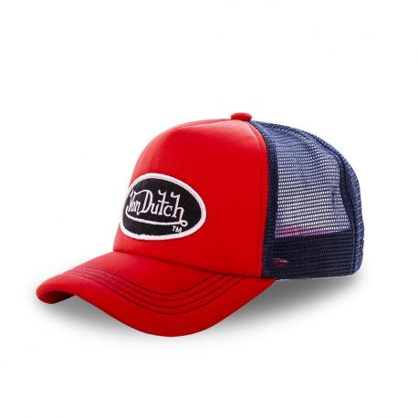 Casquette trucker Von Dutch Fao-M Rouge
