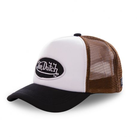 Casquette trucker Von Dutch Fao-M Marron