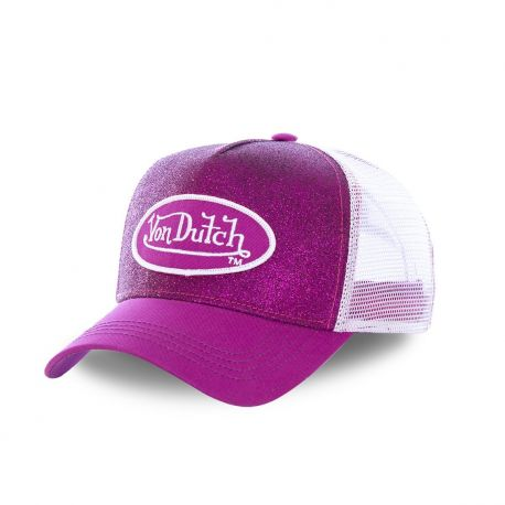 Casquette trucker Von Dutch Flakes Violet
