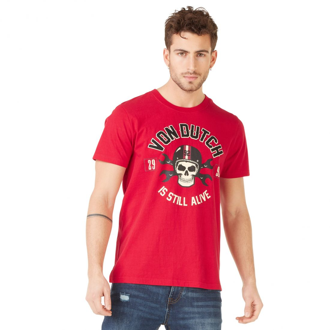T-shirt homme Von Dutch Rags Rouge