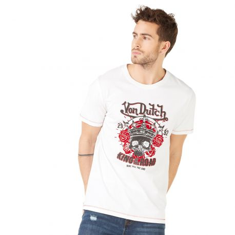 T-shirt homme Von Dutch Road Blanc