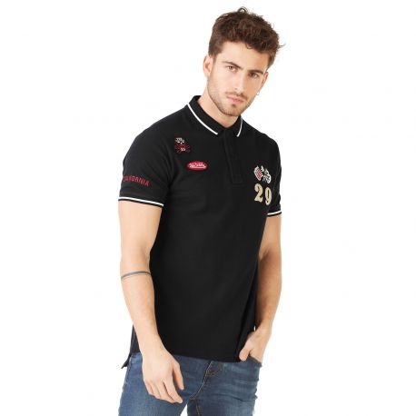 Polo homme Von Dutch Cooper Gris Anthracite