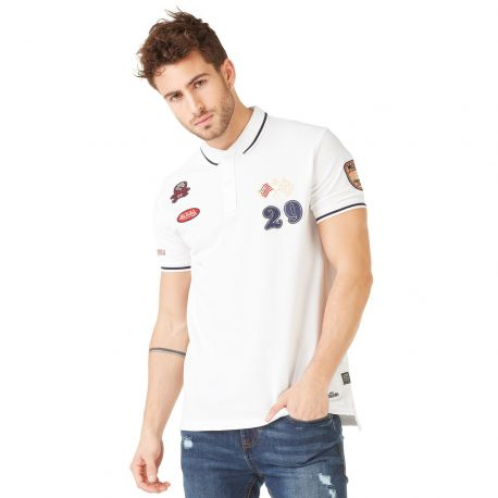 Polo homme Von Dutch Cooper Blanc