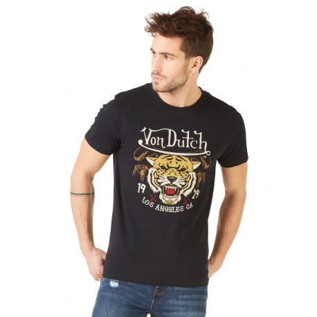 T-shirt homme Von Dutch Big Tiger Noir