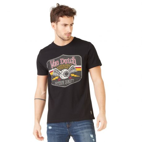 T-shirt homme Von Dutch Gas Noir