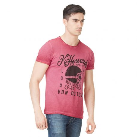 T-shirt homme Von Dutch Cortes'19 Rouge