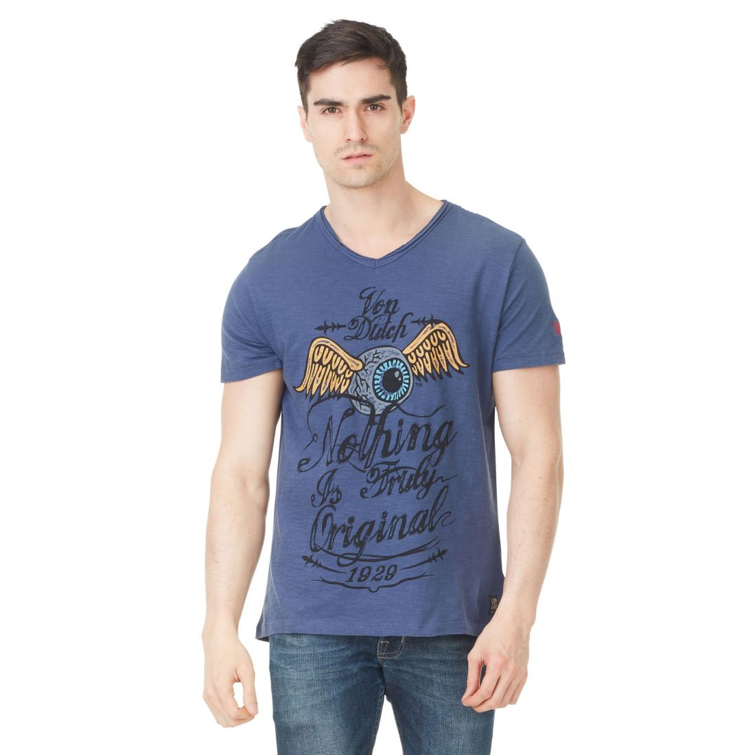 T-shirt homme Von Dutch Eyes'19 Bleu