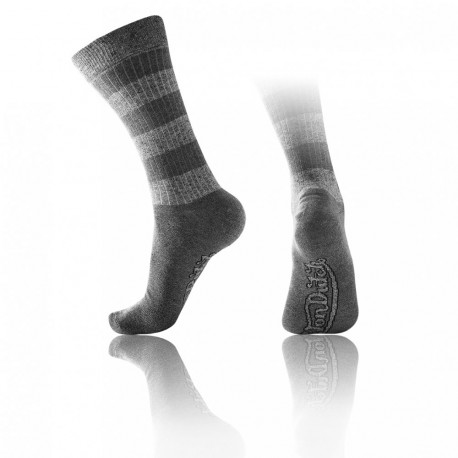 chaussettes rayures gris