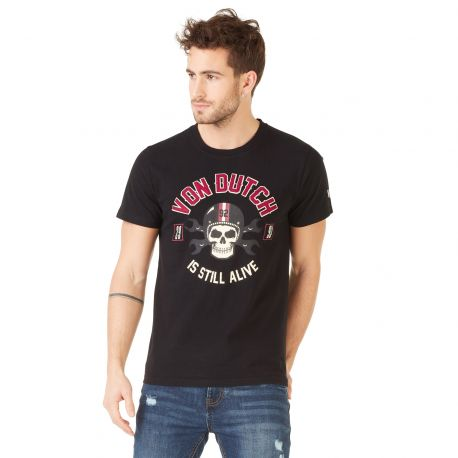 T-shirt homme Von Dutch Rags Noir