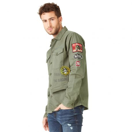 Veste Coton Homme Von Dutch Rebel Kaki