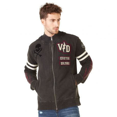 Sweat zippé homme Von Dutch Irwin Noir