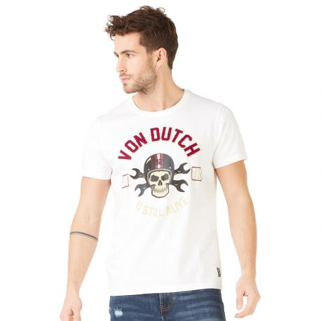 T-shirt homme Von Dutch Rags Blanc