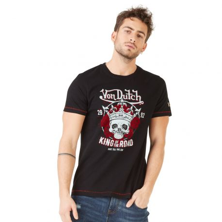 T-shirt homme Von Dutch Road Noir