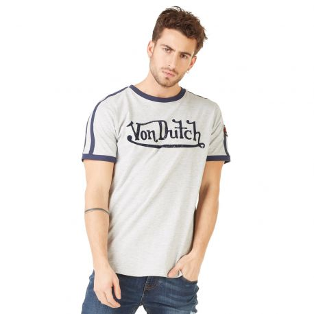 T-shirt homme Von Dutch Studs Gris Chiné
