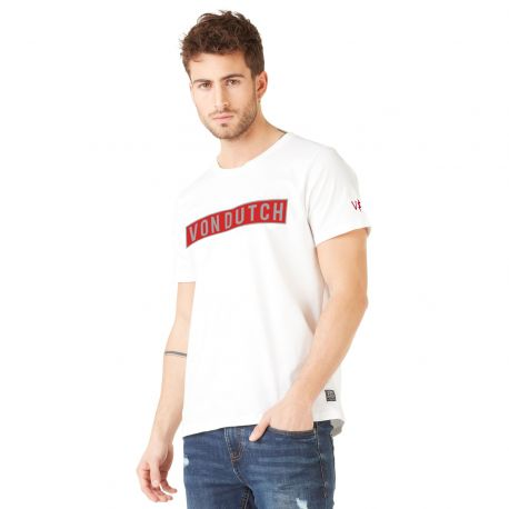 T-shirt homme Von Dutch Bells Blanc